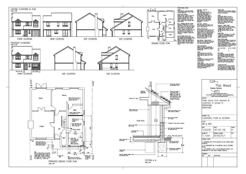 Plan ahead drawing services drawings for house Garage conversion floor plans