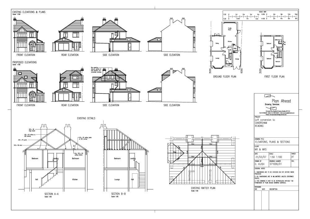 ideas attic conversions - Plan Ahead Drawing Services Drawings for house