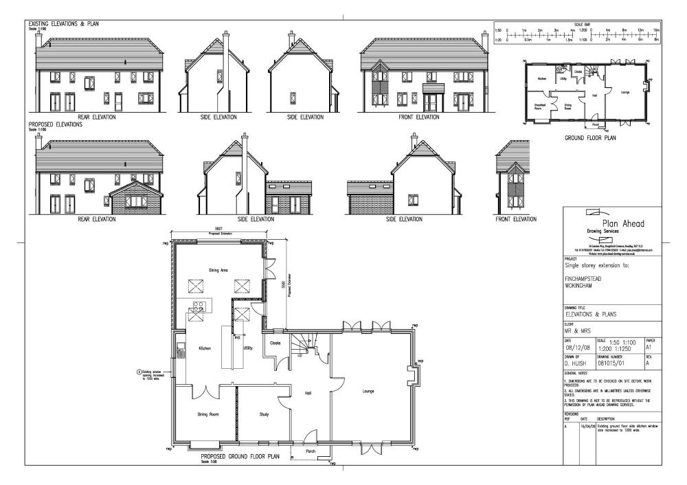 Drawing plans for a house extension escortsea for Home design drawing