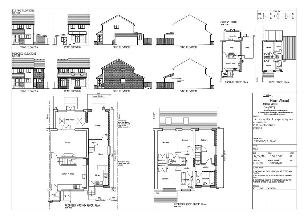 Single story house extension plans - House design plans