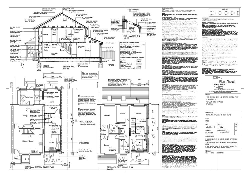 Plan ahead drawing services drawings for house for House extension drawings